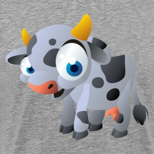 Cartoon cow art - Men's Premium T-Shirt
