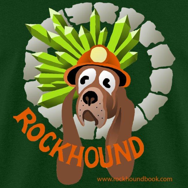 Rockhound mens hunter green T shirt