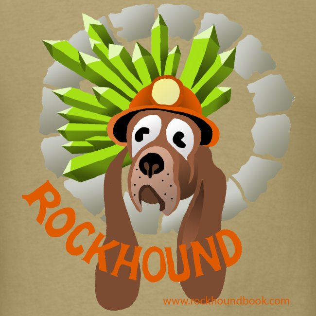 Rockhound mens kaki T shirt