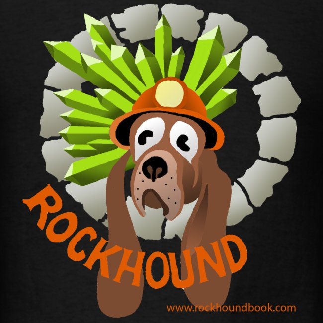 Rockhound mens black T shirt