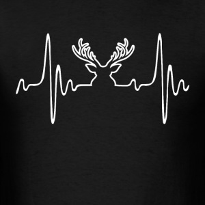 Deer Hunting - Heartbeat - Men's T-Shirt