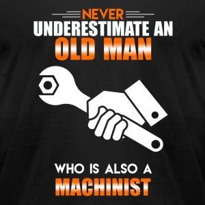 Old Man Machinist - Men's T-Shirt by American Apparel