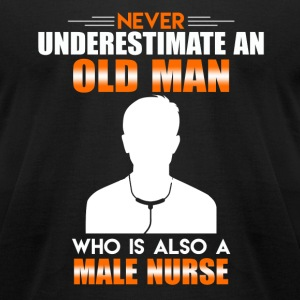 Old Man Male Nurse - Men's T-Shirt by American Apparel
