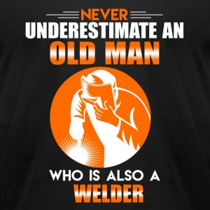 Old Man Welder - Men's T-Shirt by American Apparel