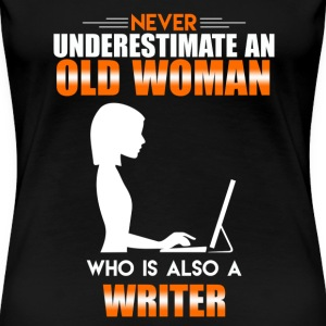 Old Woman Writer - Women's Premium T-Shirt