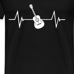 Acoustic Guitar Heartbeat Love T-Shirt T-Shirts - Men's Premium T-Shirt
