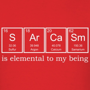 Sarcasm Elements - Men's T-Shirt