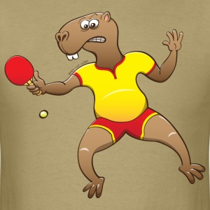 Capybara Playing Table Tennis T-Shirts - Men's T-Shirt