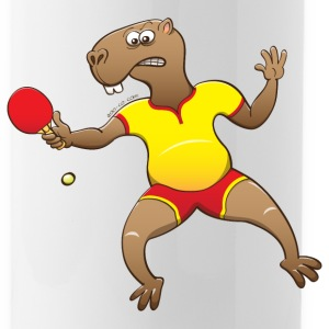 Capybara Playing Table Tennis Sportswear - Water Bottle