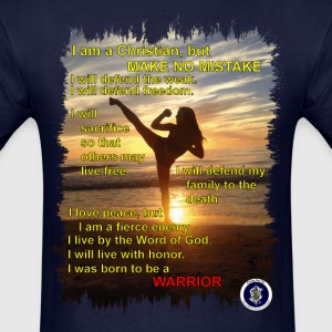 Warrior poem, mens, front - Men's T-Shirt