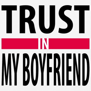 I trust in my boyfriend T-Shirts - Baseball T-Shirt