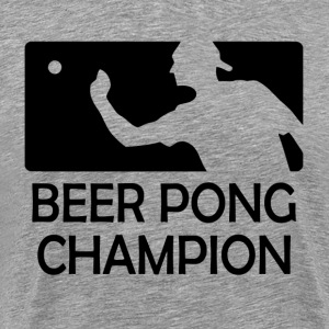 Beer Pong Champion Cups Table University Drinks T-Shirts - Men's Premium T-Shirt