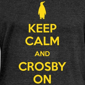 Keep Calm and Crosby On Long Sleeve Shirts - Women's Wideneck Sweatshirt