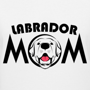 Labrador mam - Women's V-Neck T-Shirt