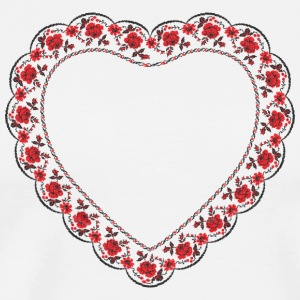Heart red rose pattern T-Shirts - Men's Premium T-Shirt