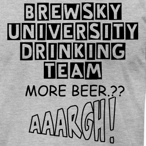 BREWSKY DRINKING TEAM - Men's T-Shirt by American Apparel