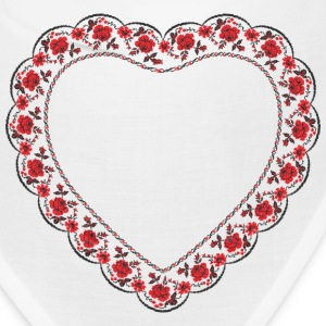Heart red rose pattern Caps - Bandana