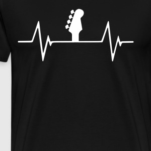 Bass guitar Heartbeat Love T-Shirt T-Shirts - Men's Premium T-Shirt