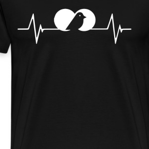 Bird Watching Heartbeat Love T-Shirt T-Shirts - Men's Premium T-Shirt