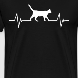 (cats) Heartbeat Love T-Shirt T-Shirts - Men's Premium T-Shirt