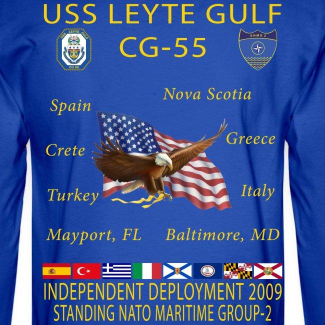 USS LEYTE GULF CG-55 2014 CRUISE SHIRT - LONG SLEEVE