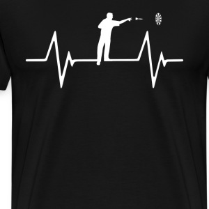 darts Heartbeat Love T-Shirt T-Shirts - Men's Premium T-Shirt