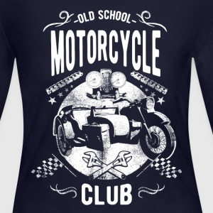 Old School Motorcycle Club Long Sleeve Shirts - Women's Long Sleeve Jersey T-Shirt