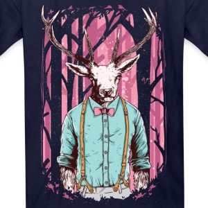Fashion Deer with Bow Tie Kids' Shirts - Kids' T-Shirt