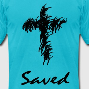 Saved Cross - Men's T-Shirt by American Apparel
