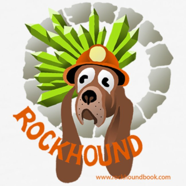 Rockhound Men's Black/White Baseball T-Shirt