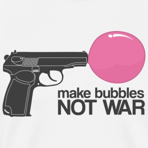 Make bubbles not war T-Shirts - Men's Premium T-Shirt