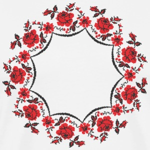 Circle rose cross-stitch pattern - Men's Premium T-Shirt