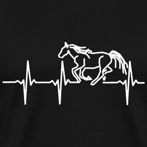 MY HEART BEATS FOR HORSES, T-Shirts - Men's Premium T-Shirt