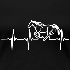 MY HEART BEATS FOR HORSES, Women's T-Shirts - Women's Premium T-Shirt