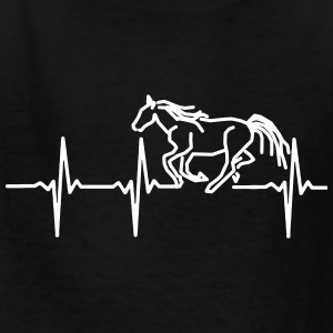 MY HEART BEATS FOR HORSES, Kids' Shirts - Kids' T-Shirt