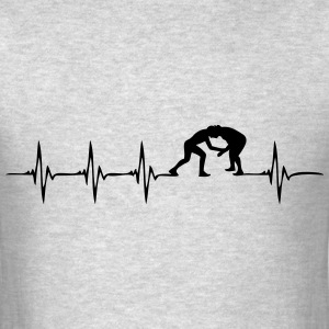 Heartbeat Wrestling - Men's T-Shirt