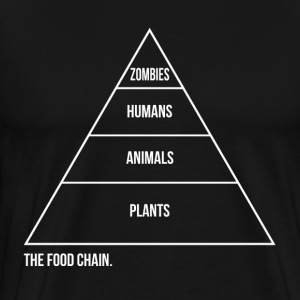 The Food Chain Zombies T-Shirts - Men's Premium T-Shirt