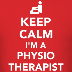 Keep calm I'm a physiotherapist T-Shirts - Men's T-Shirt