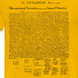 United States Declaration of Independence - Men's Premium T-Shirt