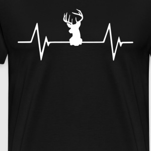 Deer hunting Heartbeat Love T-Shirt T-Shirts - Men's Premium T-Shirt