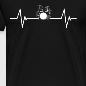 Drums Heartbeat Love T-Shirt T-Shirts - Men's Premium T-Shirt
