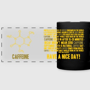 Caffeine facts - Full Color Panoramic Mug