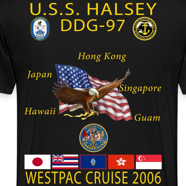 USS HALSEY DDG-97 2006 CRUISE SHIRT