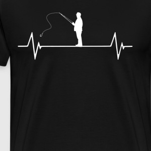 Fishing Heartbeat Love T-Shirt T-Shirts - Men's Premium T-Shirt