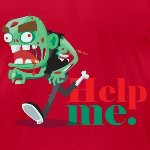 Scared zombie T-Shirts - Men's T-Shirt by American Apparel