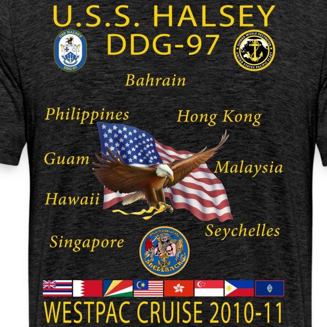 USS HALSEY DDG-97 2010-11 CRUISE SHIRT