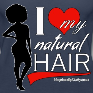Love Natural Hair Afro (Tank) - Women's Premium Tank Top