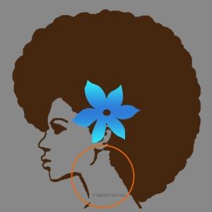 Afro Side Flower