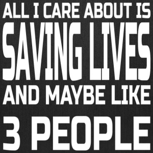 Care about saving lives Bags & backpacks - Tote Bag