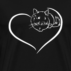 Chinchilla Heart Shirt - Men's Premium T-Shirt